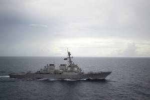 Guided-missile destroyer USS Decatur (DDG 73) operates in the South China Sea (U.S. Navy photo by Diana Quinlan)