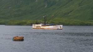 Fishing vessel Akutan in Captains Bay near Unalaska, Alaska, August 18, 2017. (U.S. Coast Guard photo)