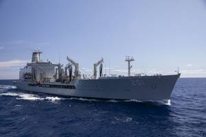 File photo: Fleet replenishment oiler USNS Patuxent (T-AO 201) (U.S. Army photo by Jacob Gleich)