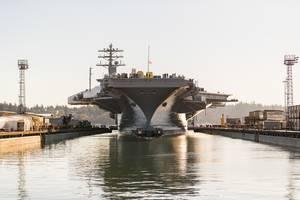 FILE PHOTO: USS Nimitz (CVN 68) at Puget Sound Naval Shipyard & Intermediate Maintenance Facility in Bremerton, Wash. (Photo: Thiep Van Nguyen II / PSNS & IMF)