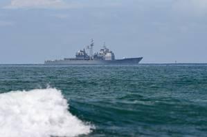 The Ticonderoga-class guided-missile cruiser USS Chosin (CG 65) (U.S. Navy photo by Timothy M. Black)