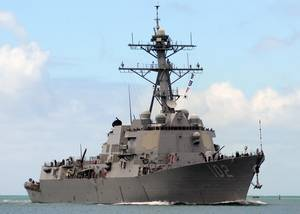 USS Sampson (U.S. Navy photo by Jon Dasbach)