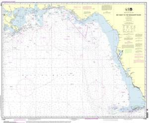 NOAA's newest addition to the nautical charting portfolio is the new Portable Document Format (PDF) nautical chart, which provides up-to-date navigation information in this universally available file type. The image above is of the Gulf Coast - Key West to Mississippi River. (Credit: NOAA)