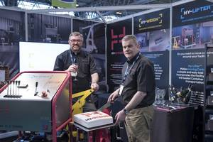 Hy-Dynamix officially launched the Hy-Weigh at Multimodal, at the Birmingham NEC, on Wednesday, May 11. Pictured left to right: Graeme Parkins, Managing Director, Glen Quickfall, Sales Director. (Photo: Hy-Dynamix)
