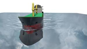 Ship scale CFD simulation made with StarCCM+ code (Photo: Lloyds Register)