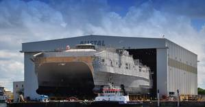 USNS Millinocket at the Austal USA vessel completion yard in June 2013 U.S. Navy photo Courtesy Austa)