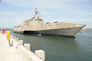 Official U.S. Navy file photo of Independence variant littoral combat ship