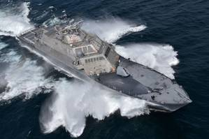 USS Detroit underway during Acceptance Trials on July 13, 2016 (Photo: Lockheed Martin)