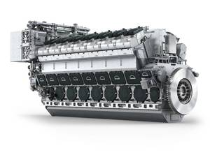 The FM-MAN 14V48/60CR engine (T-AOX will use 2 x 12V46/60CR Engines) (Image: MAN Diesel & Turbo)