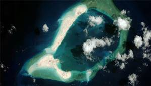 Subi Reef (Photo: CSIS Asia Maritime Transparency Initiative/DigitalGlobe)