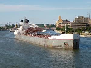 The Calumet coming into the Port of Green Bay. Photo supplied by the Port of Green Bay.