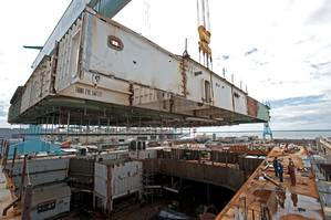 Lifting the Module: Photo credit HII