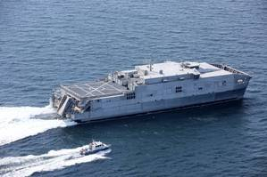 Expeditionary Fast Transport 7 (EPF 7), USNS Carson City during Acceptance Trials in the Gulf of Mexico (Photo: Austal)