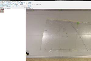 Photo of pattern imported into PhotoModeler