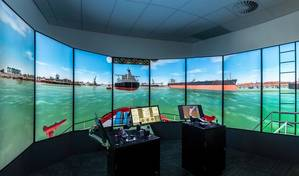 HR Wallingford's newly built tug bridge simulator (Photo: HR Wallingford)