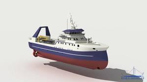 50 m factory trawler.