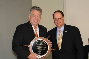 Morton Bouchard III,& President/CEO of NY: based& Bouchard Transportation Co. Inc.,presented Rep. King the 2013 Champion of Maritime Award on behalf of the American MaritimePartnerhip.