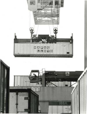 This is one of the first containers of Hapag-Lloyd. (Photo: Hapag-Lloyd)