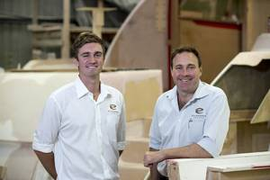 Luke Durman and Tom Barry-Cotter (Photo: Elandra Yachts)