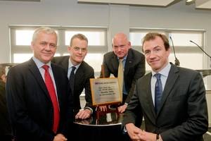 Swire Oilfield Services chief executive officer, Tor Helgeland; chairman, Barnaby Swire; director & general manager UK, Roy Burrell; and chief operating officer, Richard Sell.