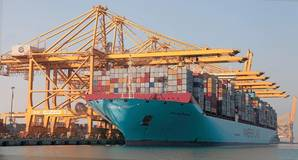 Magleby Maersk at Jebel Ali's Terminal 2 (Photo: DP World)