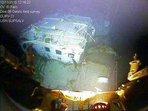 EL Faro sits in 15,000 feet of water near the Bahamas (Photo: NTSB)