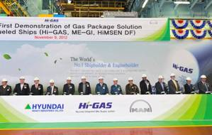 HHIs FGSS Test Announcement: Photo credit Hyundai Heavy Industries