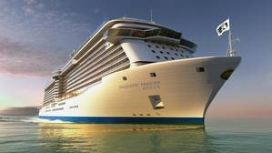 Rendering of Princess Cruises' new China-based cruise ship, Majestic Princess. (Image: Princess Cruises)