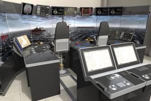 K-Sim DP Manoeuvring Trainer – aft deck configuration (Photo: Kongsberg)