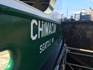WSF's third Olympic Class vessel, M/V Chimacum, will will replace an older vessel on the Seattle/Bremerton route in 2017. (Photo: WSDOT)