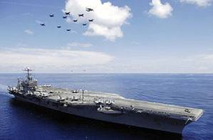 USS Abraham Lincoln: Photo credit Wikipedia CCL