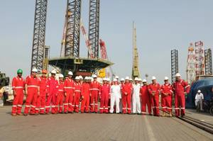 DDW & NDC team near Al Ittihad (Photo: Drydocks World)