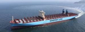 Maersk Triple E Class vessel (Photo courtesy of Trelleborg)