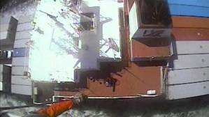 A USCG aircrew medevaced a crewmember from the Horizon Tacoma near Port Townsend, Wash. (Screenshot of USCG video courtesy of Air Station Port Angeles