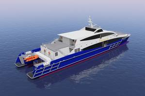 50 meter HSC Catamaran Ferry for Seaspovill