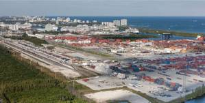 Landside infrastructure improvements have made connections with major highways and railroad systems more efficient, the port said. (Photo courtesy of Port Everglades)