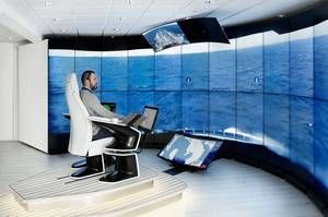 RECOTUG OPS Center. (Image source: Svitzer, Kongsberg Maritime, ABS)