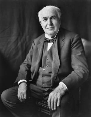 Thomas A. Edison, courtesy United States Library of Congress