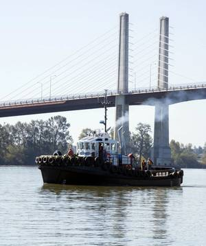 The David J just off the Sylte Shipyard on the Fraser River (Photo courtesy of Haig-Brown/Cummins)