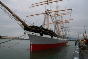 Bay Ship & Yacht has been chosen for the third time to perform maintenance on the 131-year-old historic ship, Balclutha. (Photo: Business Wire)