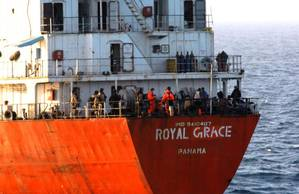MV Royal Grace following its release from Somali Pirates in March 2013. (Photo: EU Naval Force)