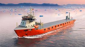 Four short-sea cargo vessels being built for Wijnne Barends will feature LNG propulsion and storage systems provided by Wärtsilä. (Image: Wijnne Barends)