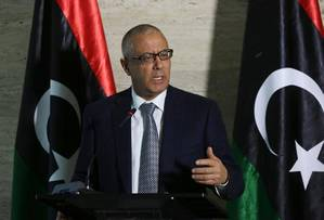 Libyas now ousted Prime Minister Ali Zeidan (AFP file photo, Mahmud Turkia)