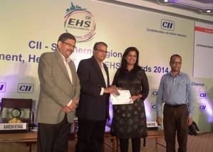 Accepting the award on behalf of the port was Ms. Vinita Venkatesh, Director - Krishnapatnam Port Container Terminal from Mr. Swaminathan Eisenhower, Director - Operations of Saint-Gobain Glass India Ltd. and  Mr. Ramesh Ky