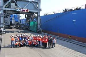 Adani Kandla Bulk Terminal completes 3.5 MT of cargo volume in first financial year. Photo Adani