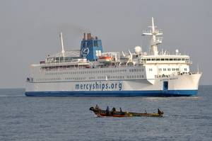 Africa Mercy at sea (Photo: Mercy Ships)