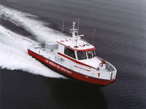 A Jensen-designed fireboat: Photo courtesy of Jensen