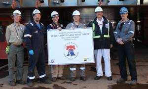 Keel-laying ceremony: Photo credit Aker Philadelphia