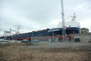 The Algoma Equinox at Lock 3 of the Welland Canal at the Opening Ceremony of the St. Lawrence Seaways 56th navigation season. (Photo: Kevin Richard Hotte)