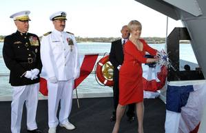 Mrs Lynne Pace Christens America: Photo credit HII